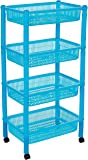 Princeware Sofia Plastic Kitchen Rack Trolley, 4-Pieces, Assorted