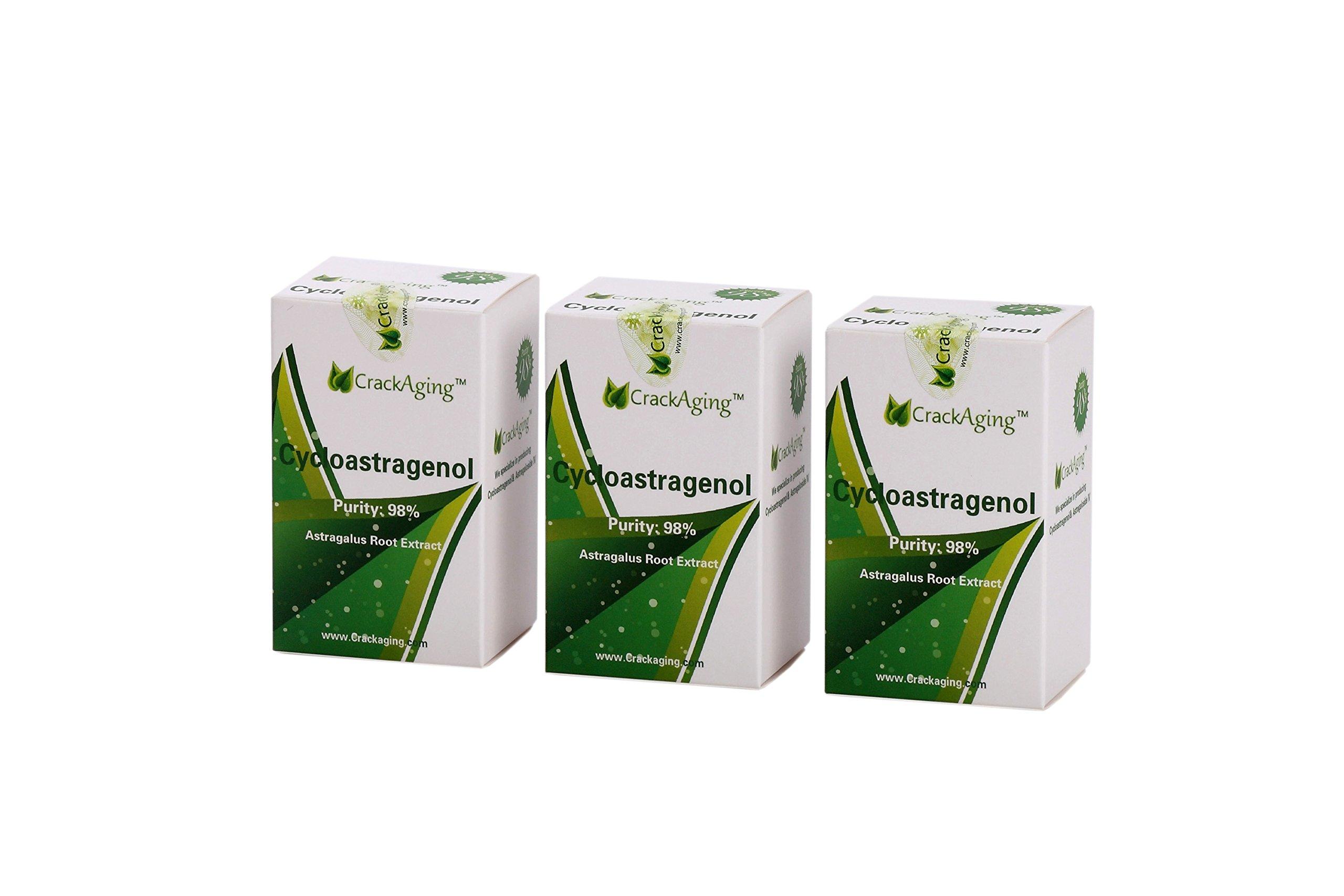 Super-Absorption Cycloastragenol 98% (25mg/cap, 180 Caps in 3 Bottles)