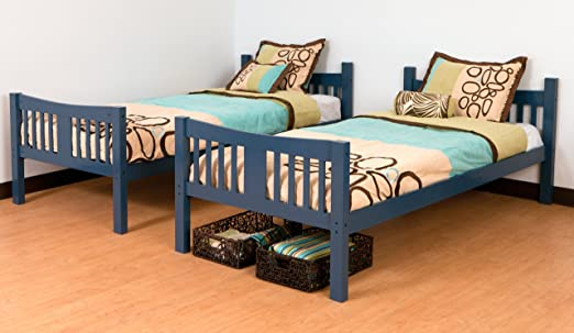 Storkcraft Caribou Solid Hardwood Twin Bunk Bed, Navy: Amazon.ca: Home &  Kitchen - Storkcraft Caribou Solid Hardwood Twin Bunk Bed, Navy: Amazon.ca