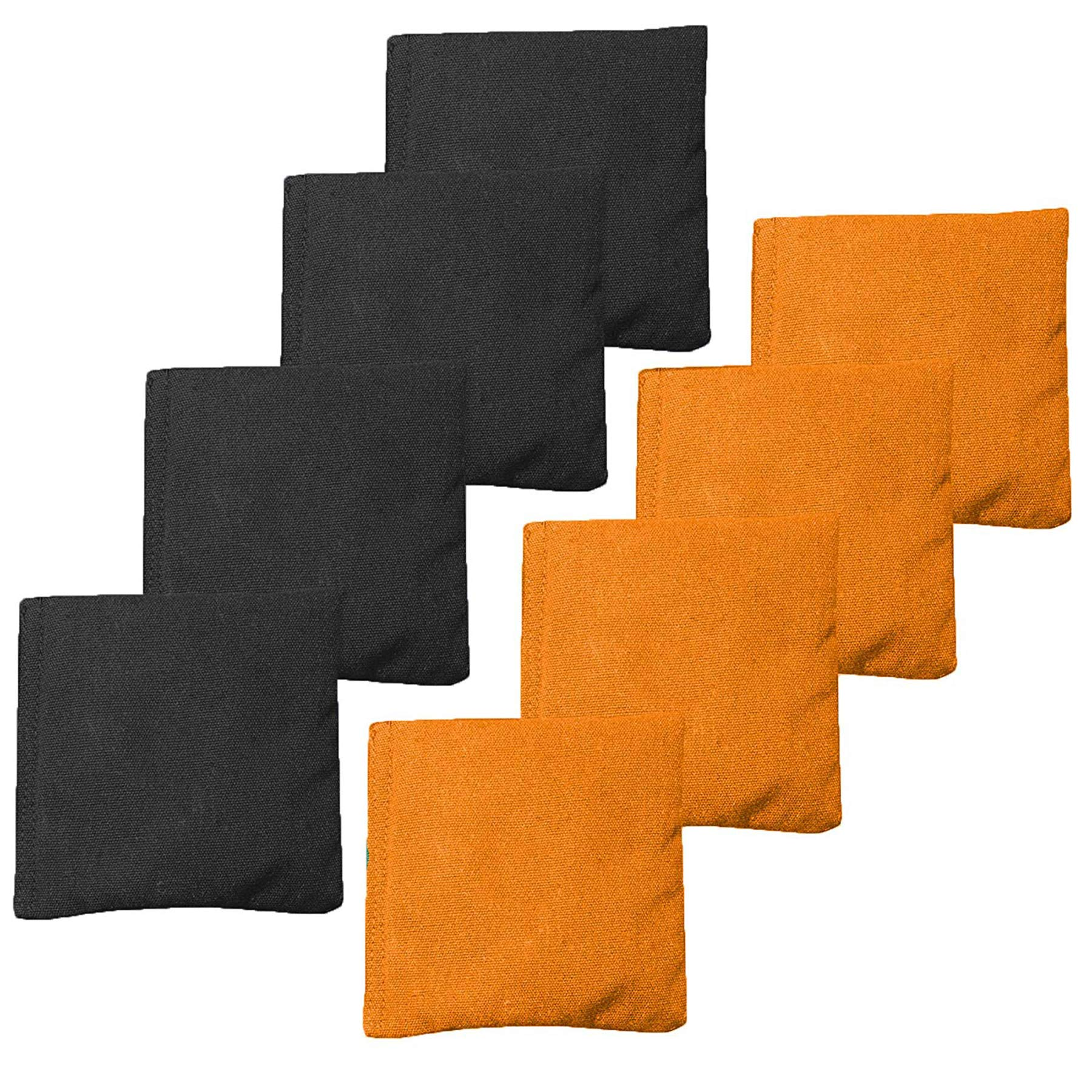 Premium Weather Resistant Duckcloth Cornhole Bags - Set of 8 Halloween Bean Bags for Corn Hole Game - Regulation Size & Weight - 4 Orange & 4 Black by Play Platoon