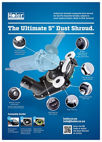 Dust Shroud 125mm Composite Delux Dust Shroud For Angle Grinders With Vacuum Attachment Amazon Com