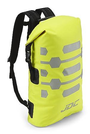 JDC Mochila para Moto 100% Impermeable Bolsa Resistente al Agua 30L- Reflector - Amarillo: Amazon.es: Coche y moto