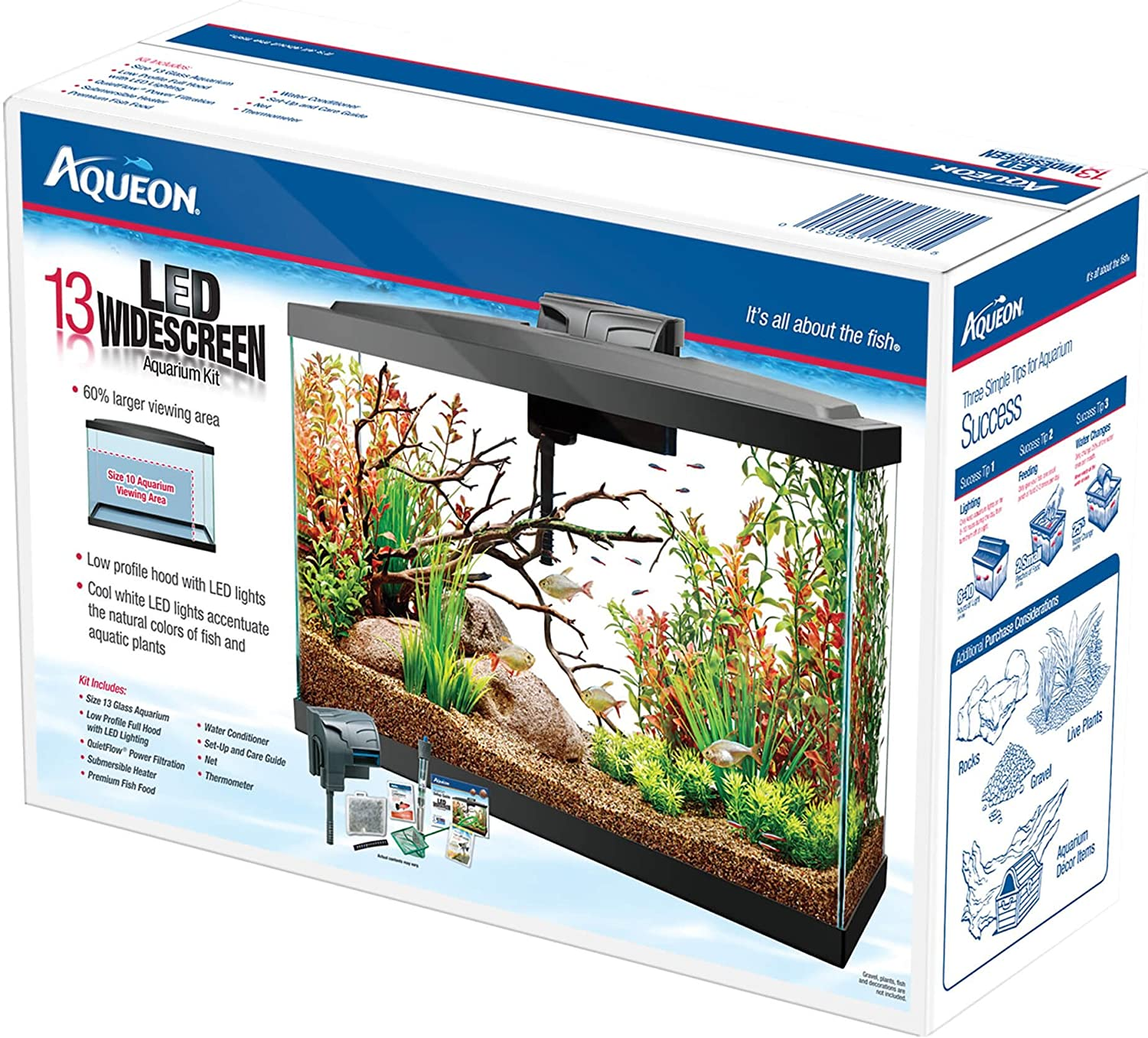 Amazon Aqueon 13 LED Widescreen Aquarium Kit Pet Supplies