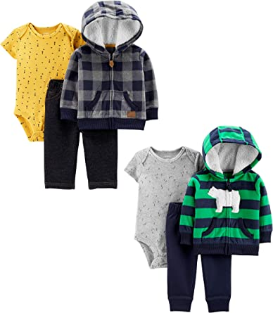 Carters Baby Boys 2-Pack 3-Piece Cardigan Set