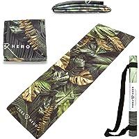 Yoga Hero 1 mm reismat   reisyogamat   reisyogamat   handdoek, opvouwbaar, antislip, 3-in-1   natuurlijk en…