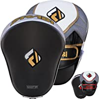 Farabi Curved Focus Pads Hook & Jab Mitts Strike Pad Boxing Pads Muay Thai MMA Kickboxing Punching Training Pads Focus Pad Dummy Pads Thai Pad Kick Pad Training Punching Sparring Pads Training Pads