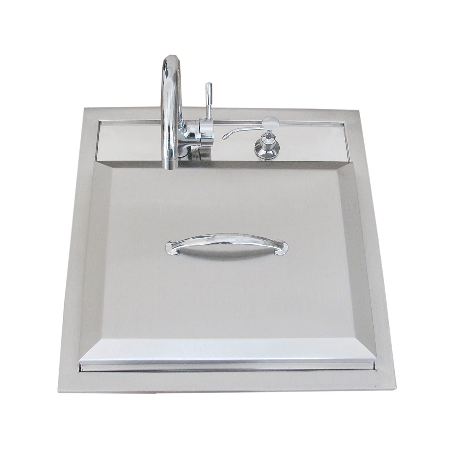 Hot and cold water faucet for outdoor sink - Amazon Com Sunstone A Ps21 Premium Sink With Hot Cold Water Facet And Cutting Board Discontinued By Manufacturer Outdoor Kitchen Cutting Boards