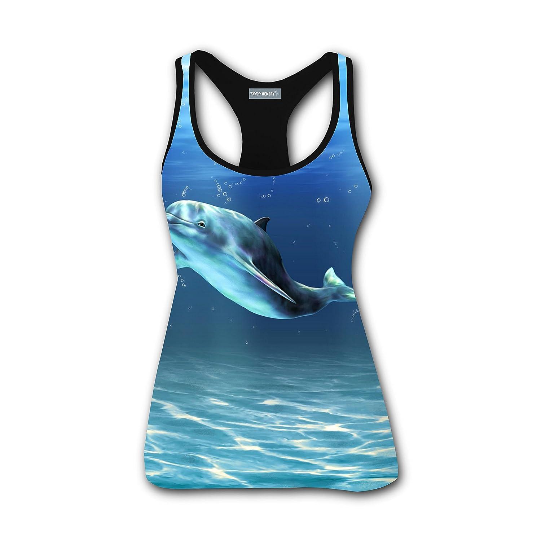 Dolphin Porpoise Parent Women Tank Casual Singlet Running Shirt