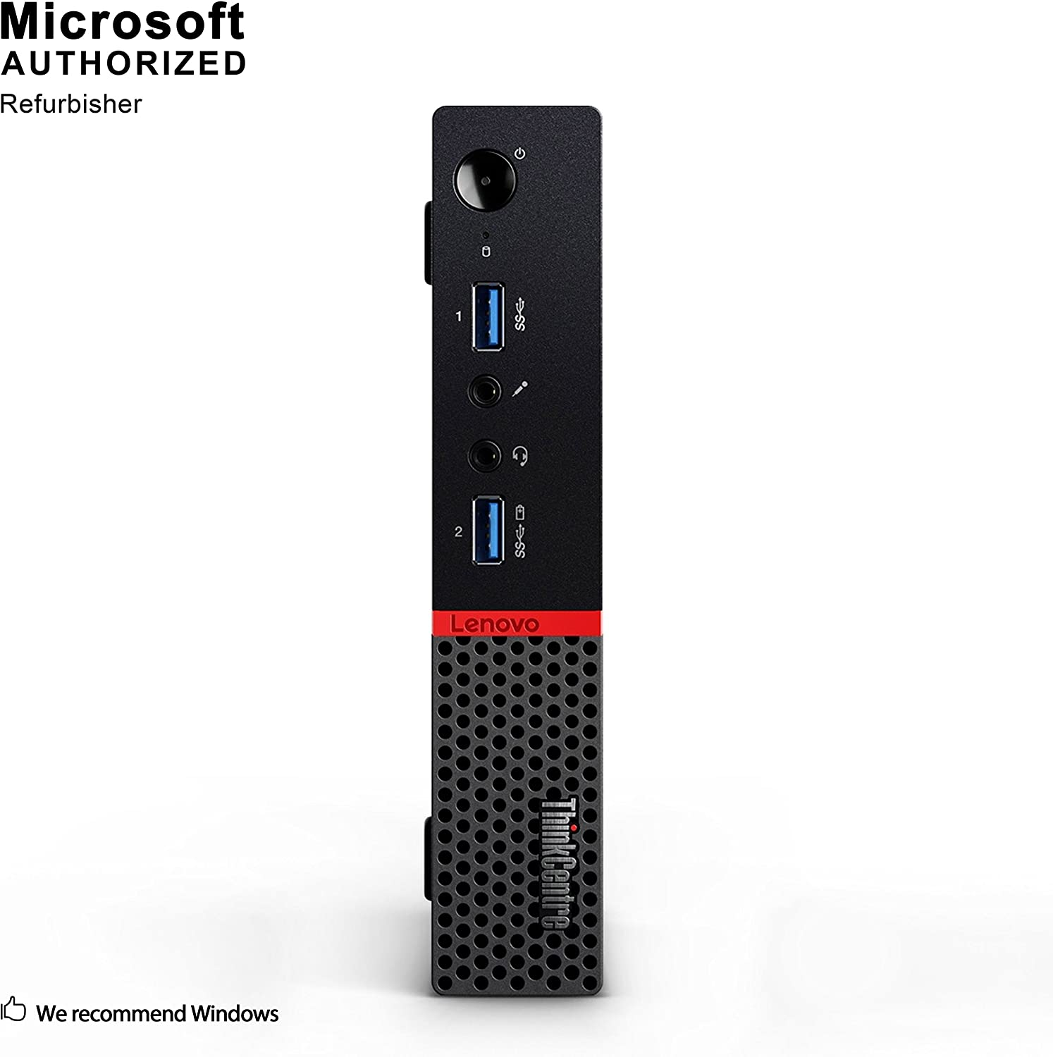 Lenovo ThinkCentre M700 Tiny Business Desktop PC, Intel Quad Core i5-6500T up to 3.1GHz, 8G DDR4, 512G SSD, WiFi, Bluetooth 4.0, Windows 10 64-Multi-Language Support English/Spanish/French (Renewed)