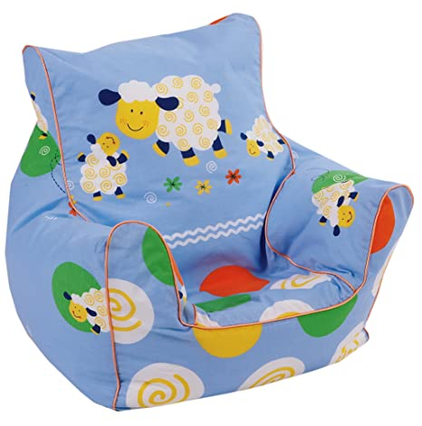 bdbfc8eb4 Knorr-baby 450722 - Sillón blando infantil con diseño de ovejas, color azul