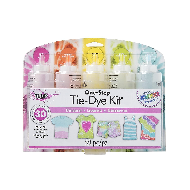 Tulip one-step tie-dye 10046097 Darice Tie-Dye Kit: Unicorn Party Supplies (59 Piece), Standard, Multicolor (Pack of 2)