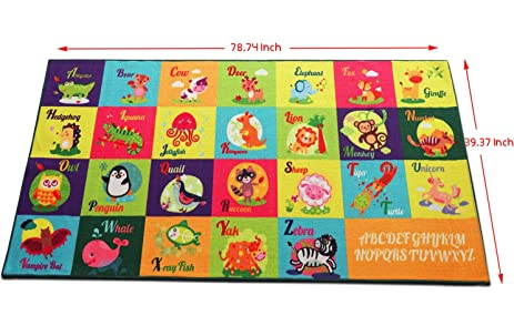 Kids Rugs For Playroom! Large Kids Play Rugs 79u201d X 40u201d For Girls