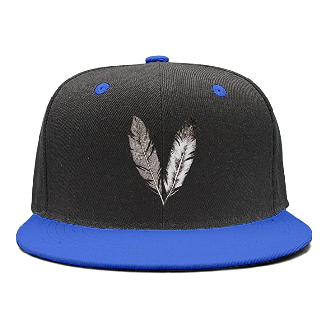 f41a5c88f73 Feathers in Black and White Check Rock Punk Snapback Hats Baseball Caps