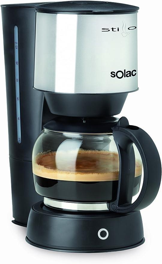 Solac CF4021 - Cafetera de goteo, inox, 10 tazas: Amazon.es: Hogar