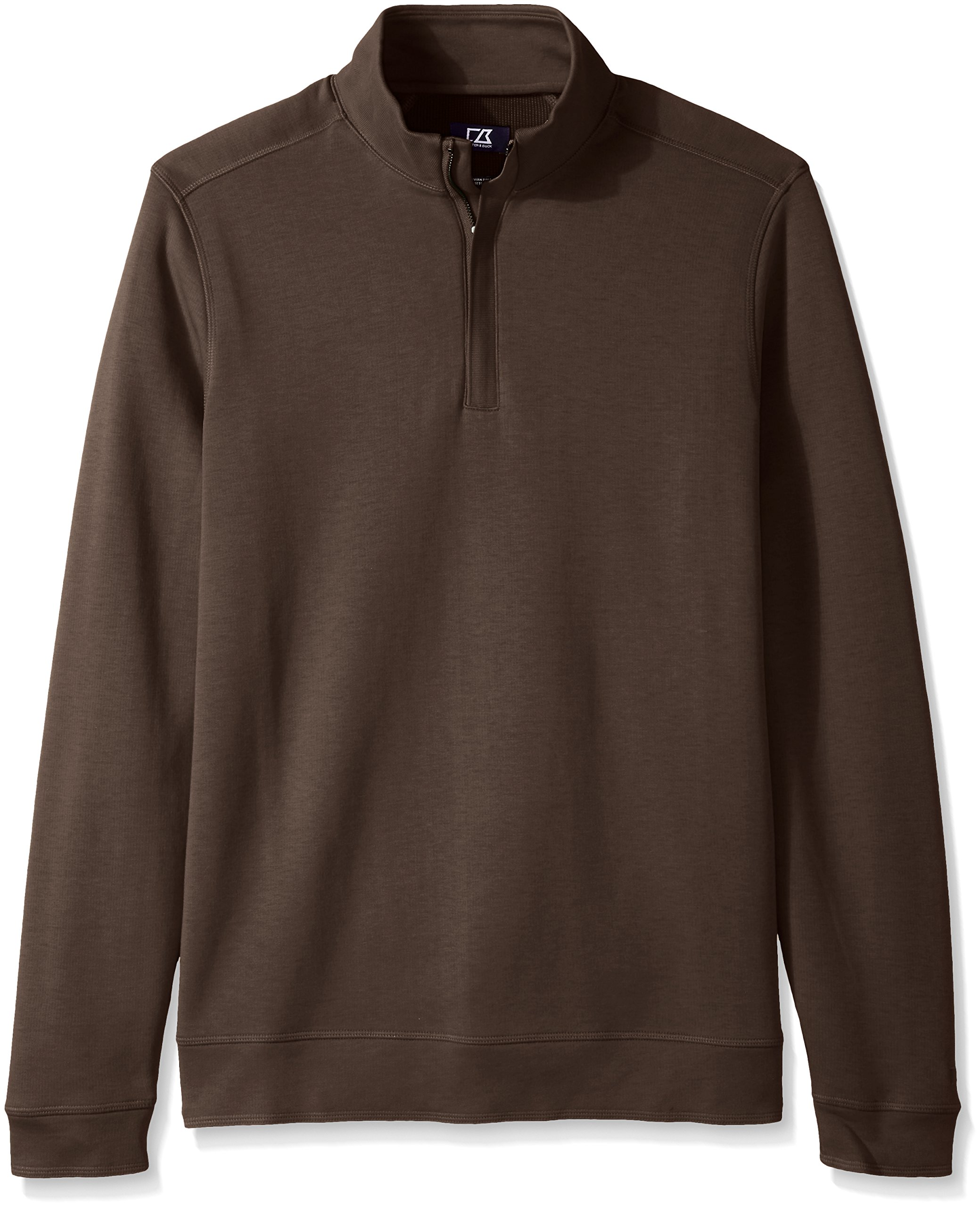 Cutter & Buck Men's Big and Tall Long Sleeve Pima Decatur Half-Zip, Circuit, 2X/Tall