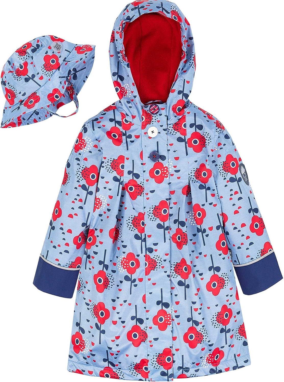TLAENSON Boys Rain Coat Hooded Waterproof Jacket for Childrens Rainwear