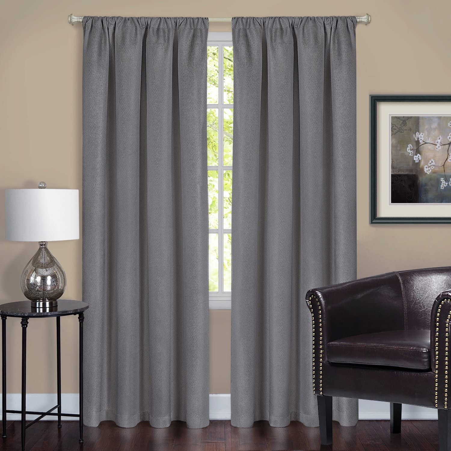 Achim Home Furnishings Ombre Window Curtain Panel, 50 by 63