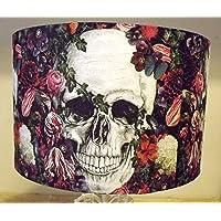 Gothic Skull Lampshade multi floral