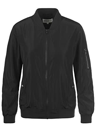 DESIRES Temari Damen Übergangsjacke Bomberjacke mit schmalem Stehkragen,  Größe:XS, Farbe:Black