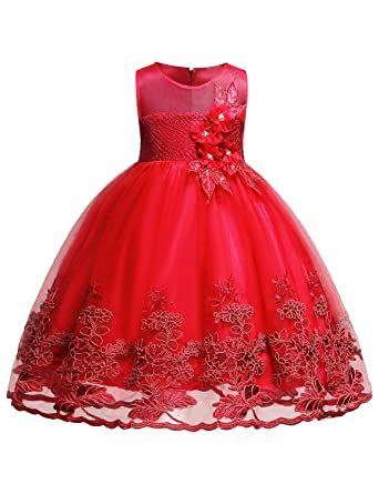 Amazon.com: Blevonh Red Dresses for Girls