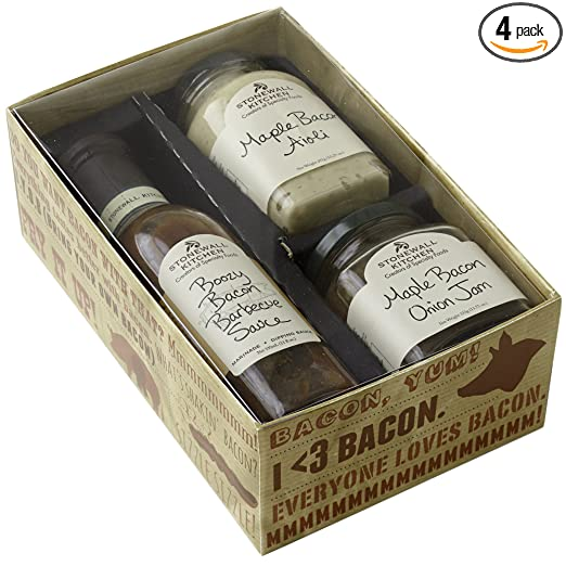Stonewall Kitchen Grille Sauce & Rub Collections & Gift Sets (3 Piece Bacon Lover Gift Set)