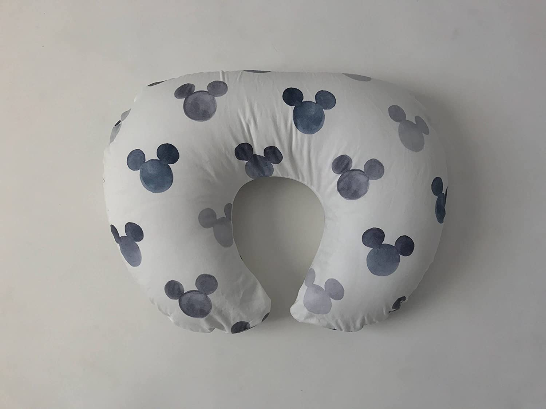 Nursing Pillow Cover - Grey Watercolor Mickey Mouse