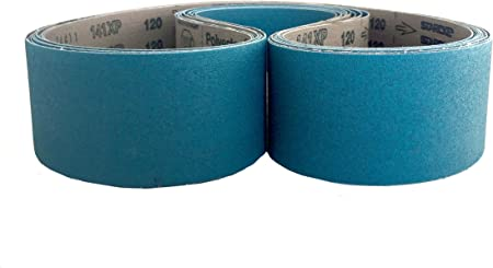 80 Grit Sanding Belts 2 X 60 Zirconia Cloth Sander Belts 6 Pack