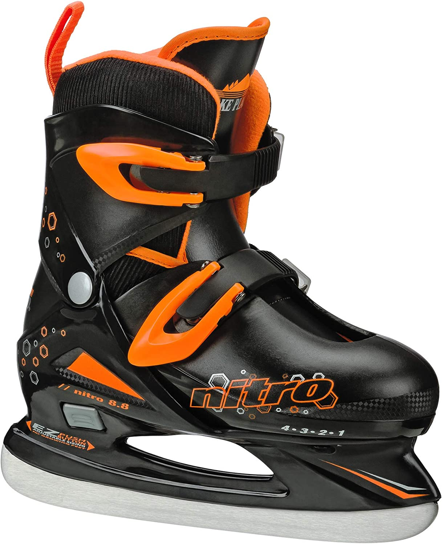 Lake Placid Boys Nitro 8.8 Adjustable Ice Skates : Sports & Outdoors