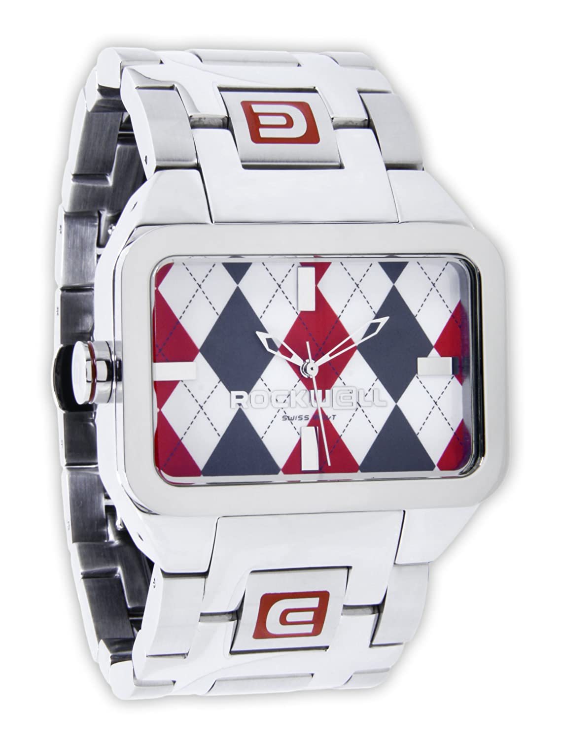 Rockwell Duel Time Silver-Red Argyle DT103 Armbanduhr