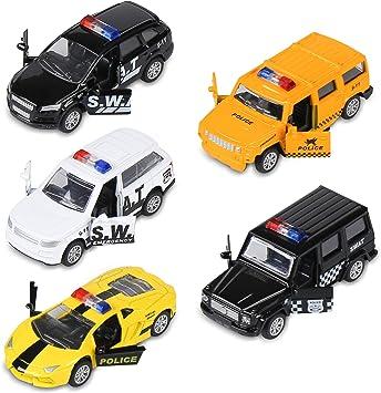 Amazon.com: KIDAMI - Juego de 5 coches de juguete de metal ...