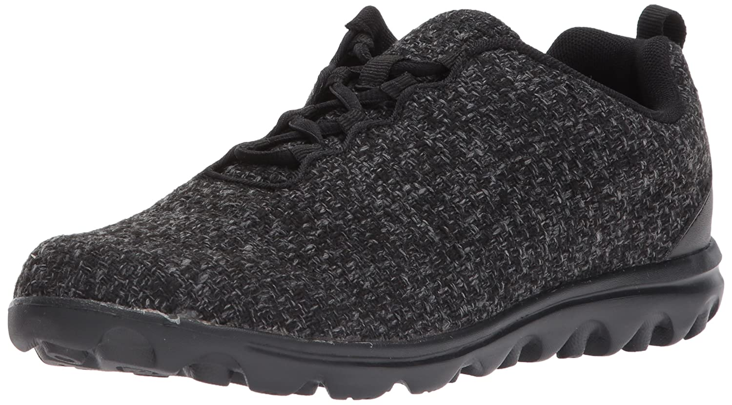 Propet Women's TravelActiv Woven Walking Shoe B01N2OFOM7 7 B(M) US|Dark Grey