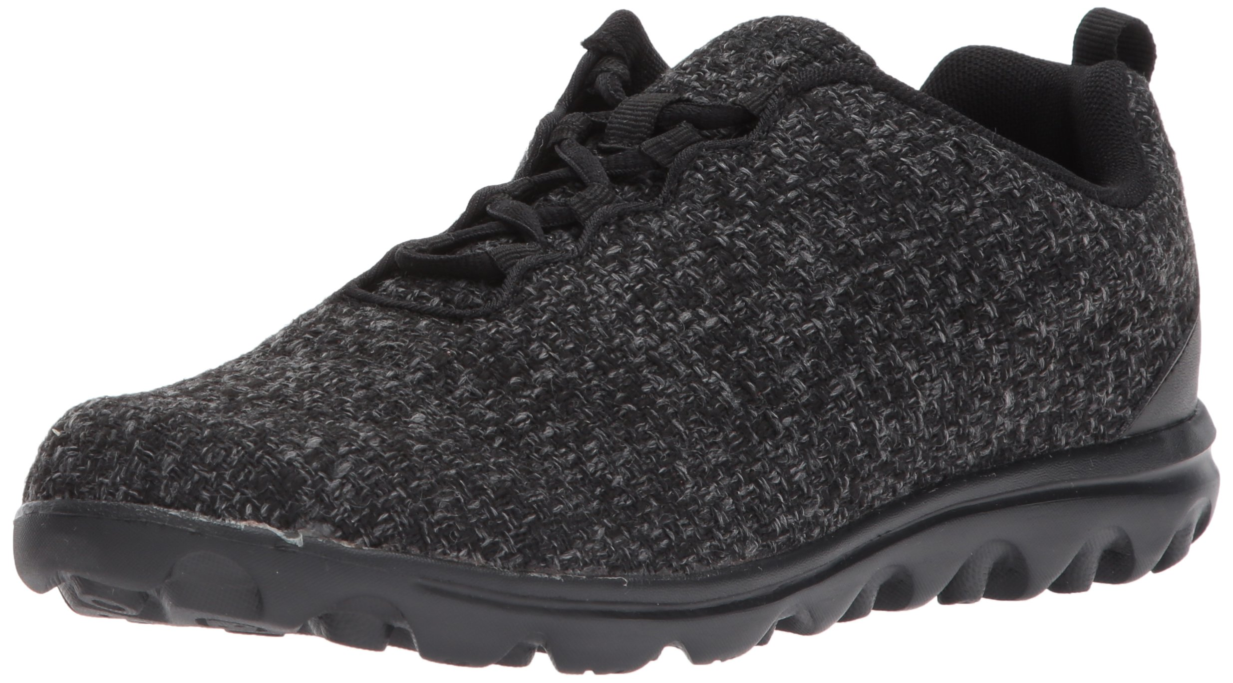 Propet Women's TravelActiv Woven Walking Shoe, Dark Grey, 10 M US