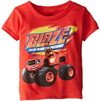 Blaze and The Monster Machines Little Boys' Toddler Short Sleeve T-Shirt, Red, 5T