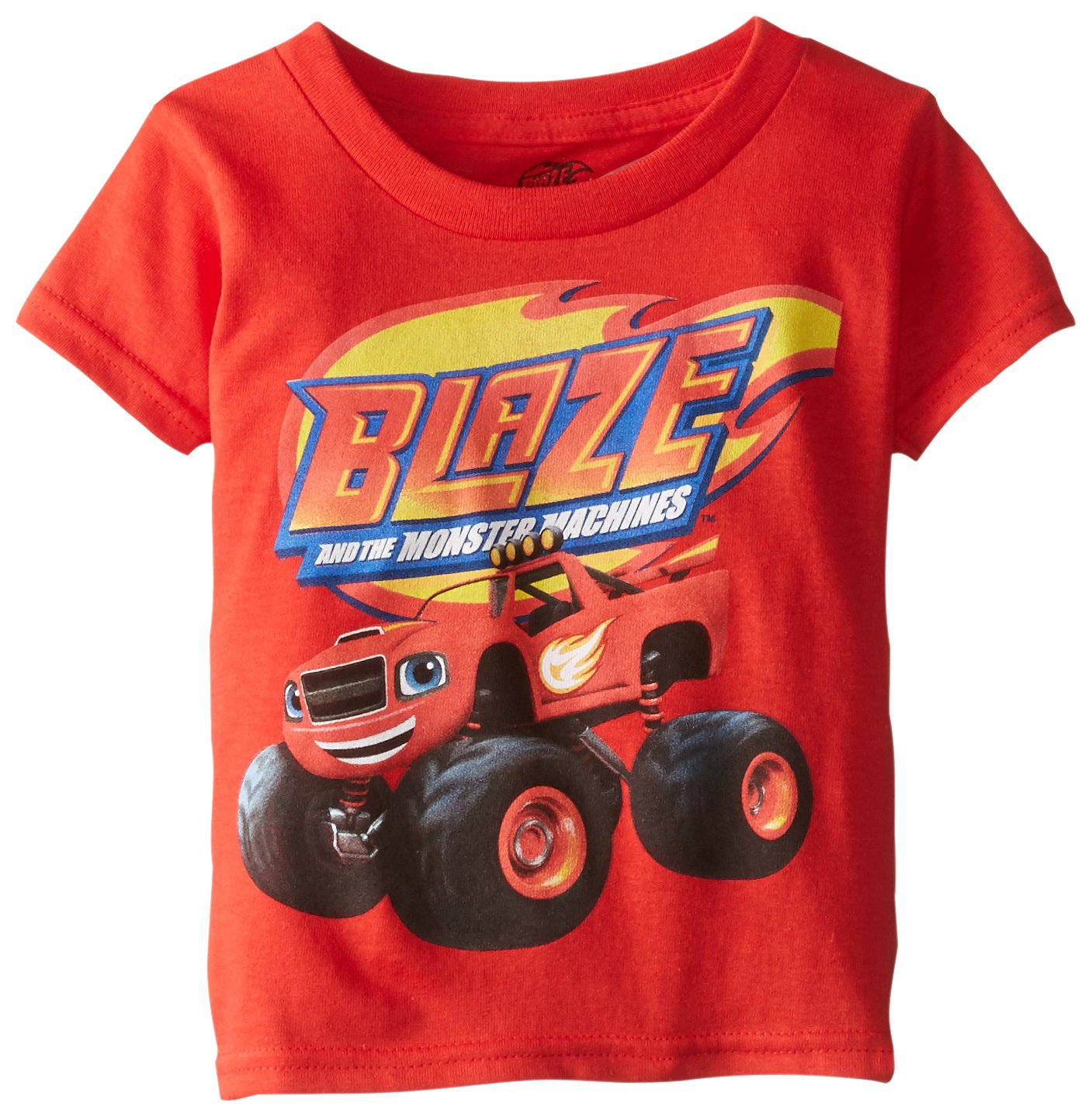 Blaze and the Monster Machines Little Boys' Toddler Short Sleeve T-Shirt, Red, 4T