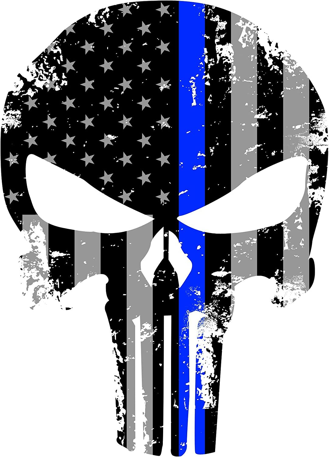 PUNISHER AMERICAN USA SNIPER SUBDUED FLAG SKULL DIE CUT VINYL DECAL STICKER 3M