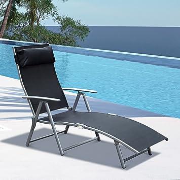 Amazon.com: Festnight - Silla reclinable plegable para patio ...