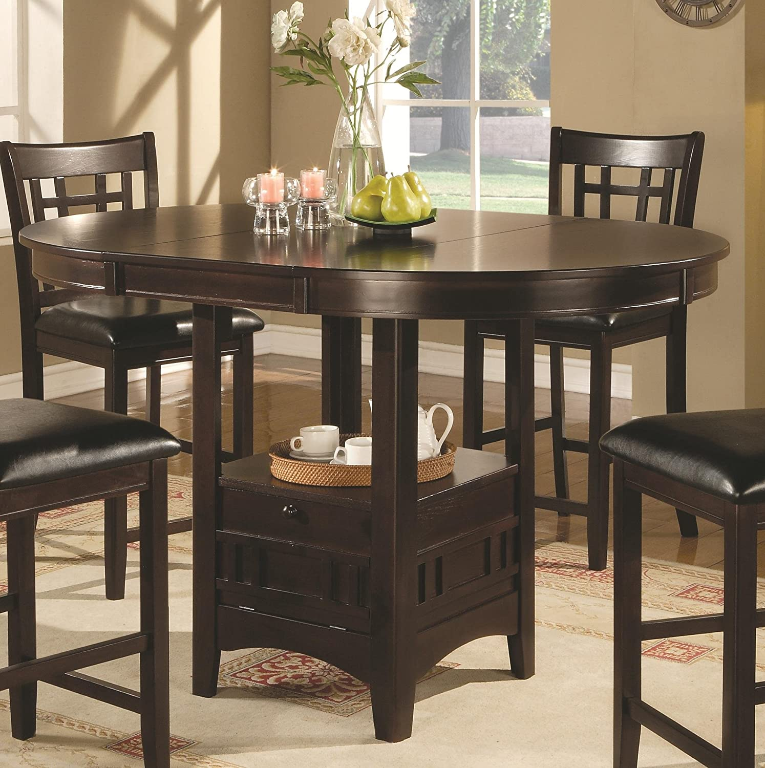 Amazon Coaster Counter Height Dining Table Extension Leaf