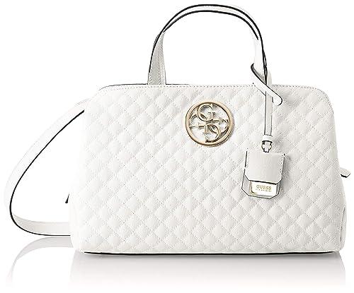 Guess - Gioia, Shoppers y bolsos de hombro Mujer, Blanco (White/Whi