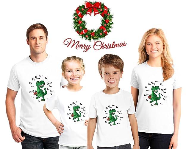 Amazon.com  Dinosaur Family Christmas Pajama Matching Shirts 8741ce4ea