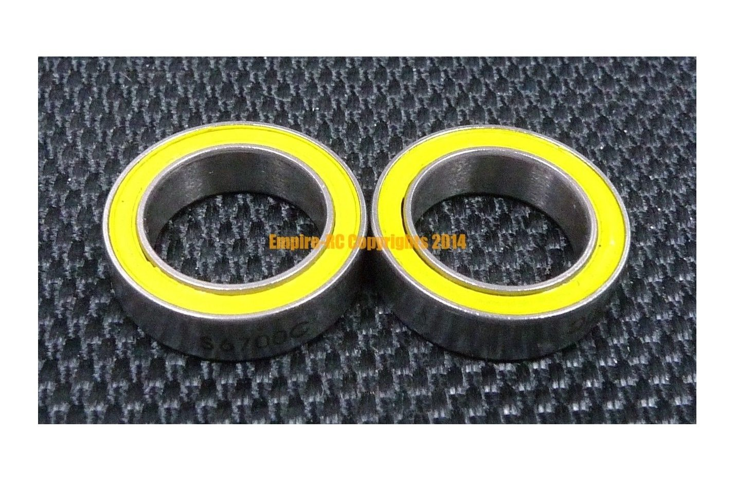 S6701-2RS 12x18x4 mm 5 PCS 440c Stainless Steel CERAMIC Ball Bearing ABEC-5