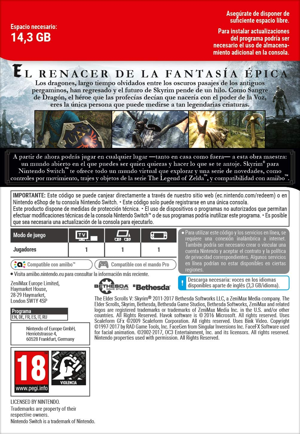 The Elder Scrolls V: Skyrim | Switch-Download Code: Amazon.es ...