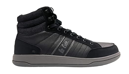 4c9e80c35e8 Lee Cooper Workwear LCSHOE099 Mens Work Safety High Top Safety Boot Trainer  S1P, Black/Grey, UK9/EU43