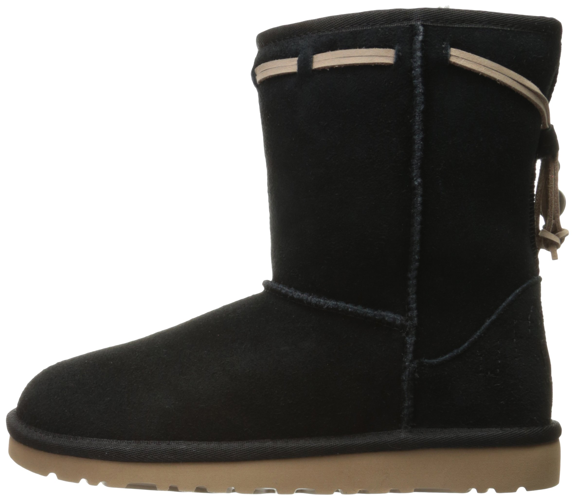 UGG Kids' K Classic Short Carranza Pull-on Boot, Black, 2 M US Little Kid by UGG (Image #5)