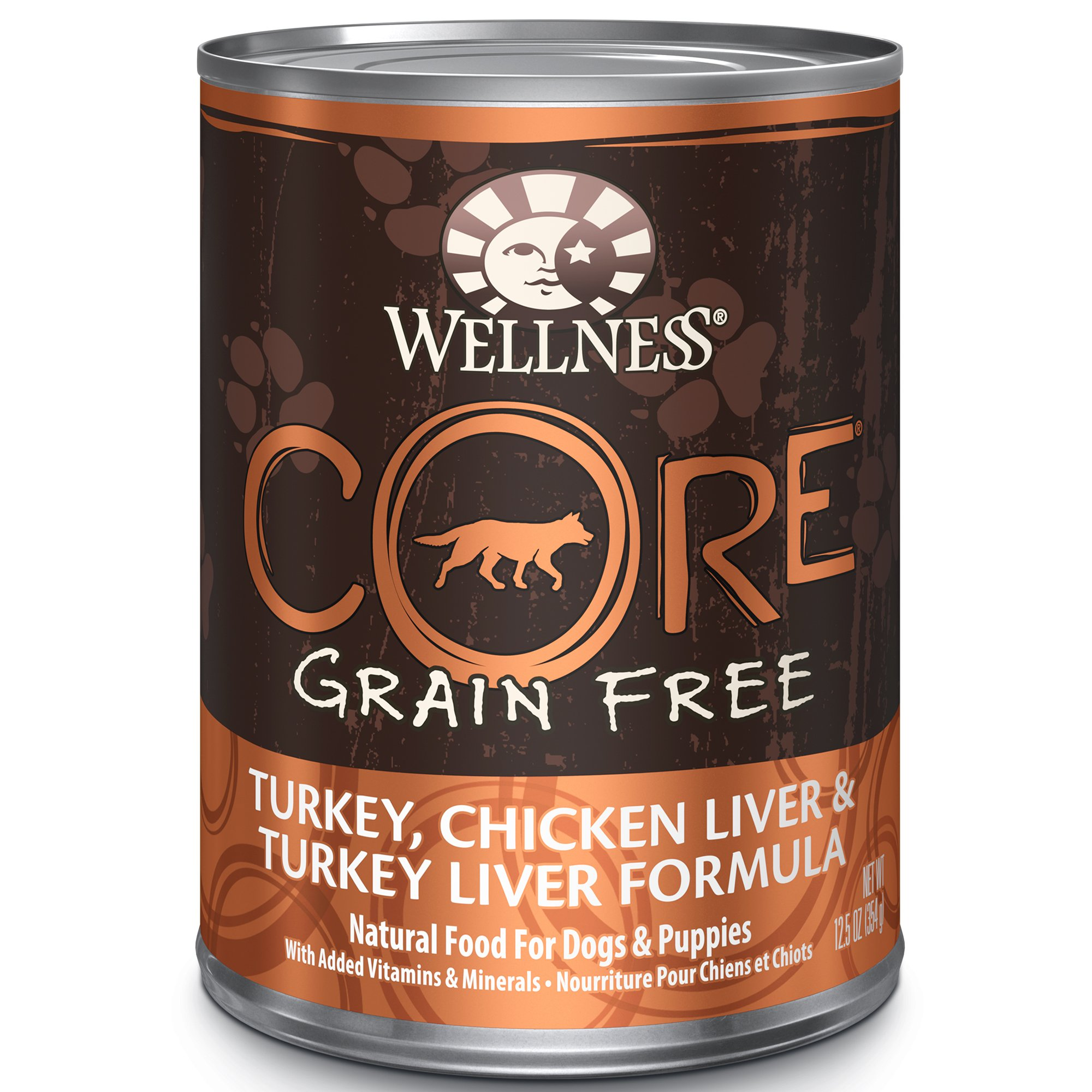 Wellness Core® Natural Wet Grain Free Canned Dog Food, Turkey & Chicken, 12.5-Ounce Can (Pack of 12)