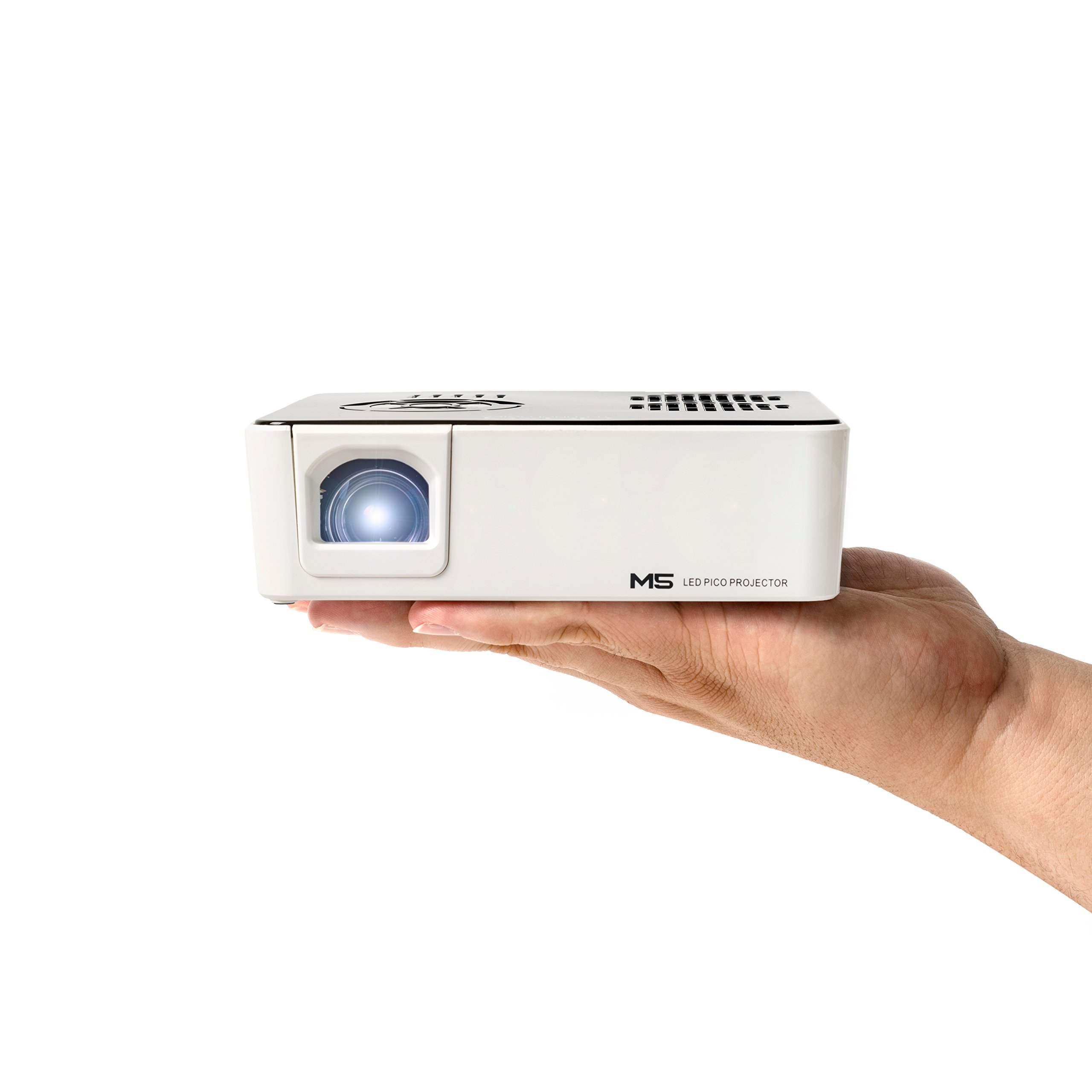 AAXA M5 Mini Portable Business Projector with Built-in Battery, 900 Lumens High Brightness, Native WXGA HD Resolution, Onboard Media Player, 20,000 Hours LED by AAXA Technologies