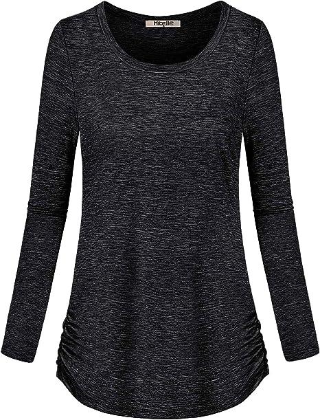 Amazon.com: Hibelle - Camiseta de manga larga para mujer ...