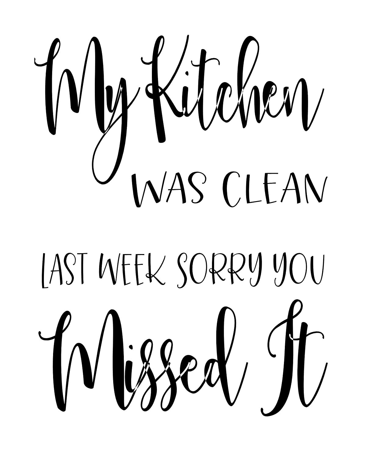 Amazon.com: Kitchen Quotes and Sayings Art Prints | Set of Four ...