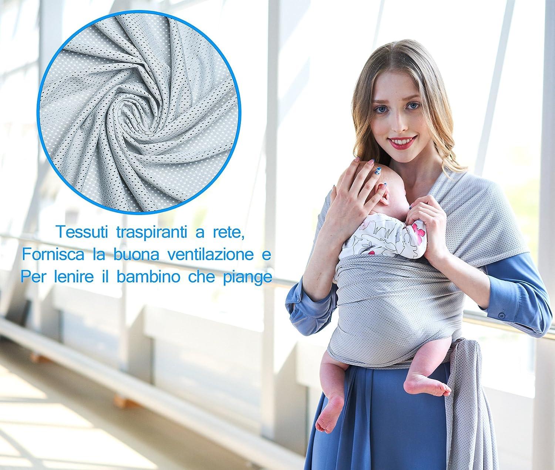 Écharpe de Portage Bébé Sling Été Tissu de maille respirant porte bébé de haute  qualité pour nouveau-nés et bébés ... a7828559870