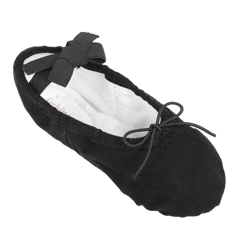 Teaio Girls Ballet Shoes Canvas Ballet Slippers Dance Shoes Toddler//Little Kid