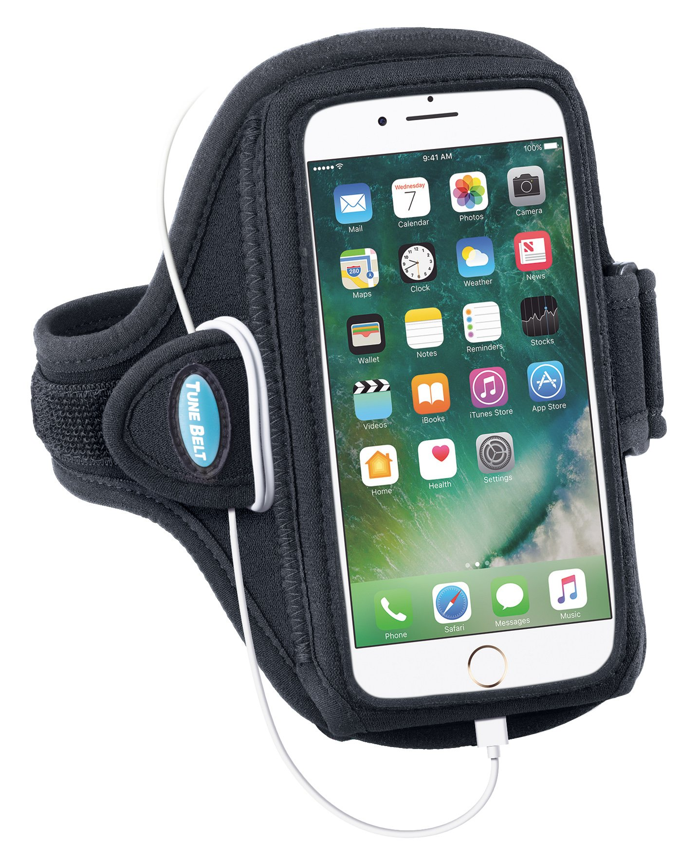 Armband for iPhone 6 6s 7 8 Plus, Samsung Galaxy Note 8 and S8 Plus - for Running, Jogging & Working Out - Water Resistant - for Women & Men [Black] See Fit Details